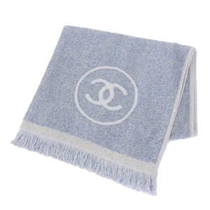 Chanel CHANEL Cocomark towel 100% cotton light blue