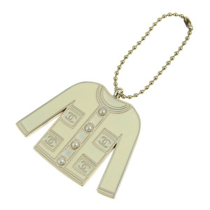 8d2f39709 Chanel CHANEL Clothes Type Charm Faux Pearl White Silver
