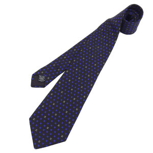 CHANEL CHOKEL COCO Mark Tie Clover Silk Black Men