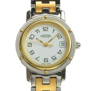 Genuine HERMES Hermes Clipper Ladies Quartz Watch Model: CL 4. 220