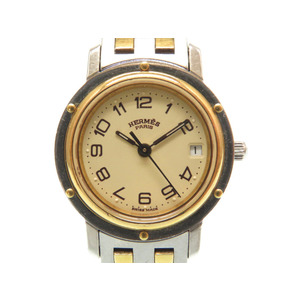 Hermes Clipper Quartz Watch CL 3.240 Combi Gold / Silver 0138 HERMES Ladies