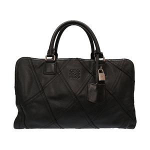 Loewe Amazona 35 Com des Garcons Junya Watanabe Collaborative Leather Black Handbag Bag 0078 LOEWE