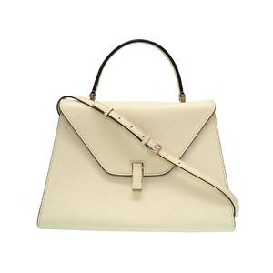 Valetchestra Large Idide Leather 2WAY Shoulder Handbag Ivory 0215 Valextra