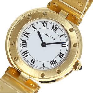 カルティエ Cartier  サントスラウンド  金無垢 クォーツ レディース 腕時計