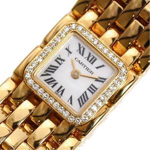 Cartier Mini Luban Quartz Gold Solid Diamond Bezel Shell Ladies Watch