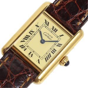 Cartier Mast Tank Vermeille SV GF Quartz Women's Watch