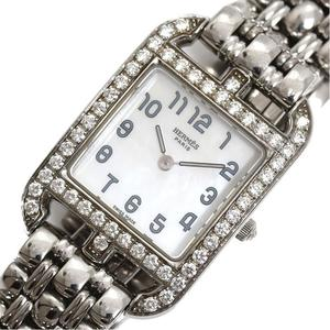 HERMES Cape Cod CC1.230 Quartz Diamond Bezel Shell Ladies Watch