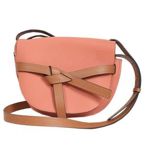 Loewe LOEWE Gate Small Shoulder Bag 321.12.T20 Pink x Brown Women