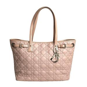 Dior Christian Panarea Tote M1010PPCD PVC Leather Pink Beige Gold Hardware Women