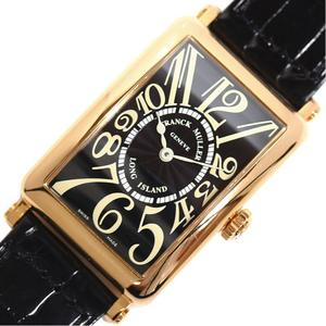 FRANCK MULLER Long Island 950QZ Quartz PG Innocent Men's Women's Black Wrist Watch