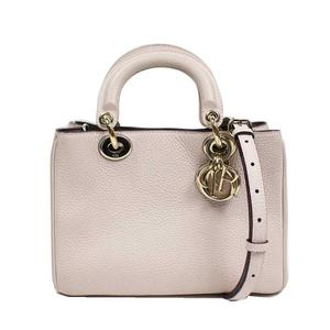 Dior Christian Lady 2WAY Handbag Leather Pink