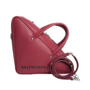 Balenciaga BALENCIAGA Triangle Duffel S 476975 Calfskin ROUGE GRENAT (Rouge) 2WAY Handbag Shoulder Bag Women