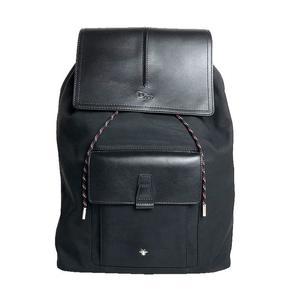 Christian Dior Backpack 1MOBA074XVO calf leather nylon black ladies men