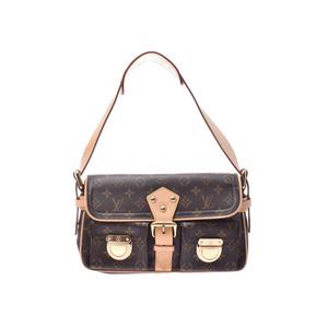 Louis Vuitton Monogram Hudson PM Brown M40027 Ladies Genuine Leather One-shoulder Bag AB Rank LOUIS VUITTON Used Ginzo