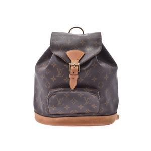 Louis Vuitton Monogram Monsuri MM Brown M51136 Women's Genuine Leather Backpack B rank LOUIS VUITTON used Ginzo
