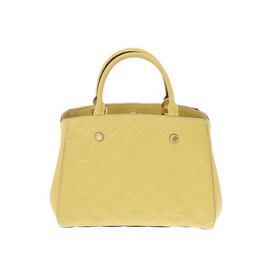 Louis Vuitton Anplant Montaigne BB citrine M41051 Women's Genuine Leather 2WAY handbag A rank beauty item LOUIS VUITTON with strap Used Ginzo