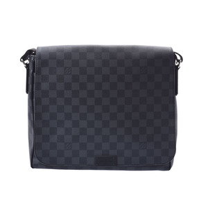 ルイ・ヴィトン (Louis Vuitton) ルイヴィトン グラフィット ディストリクトMM グレー系 N41272 メンズ 本革 ショルダーバッグ 新同 美品 LOUIS VUITTON 中古 銀蔵
