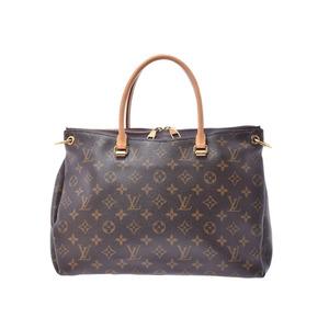 ルイ・ヴィトン (Louis Vuitton) ルイヴィトン モノグラム パラス パープル系 M47255 レディース 本革 2WAYハンドバッグ ABランク LOUIS VUITTON ストラップ 中古 銀蔵