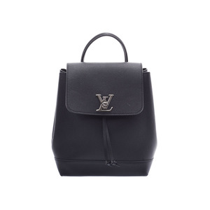 Louis Vuitton Rock Me Backpack Black M41815 Women's Leather AB Rank LOUIS VUITTON Used Ginzo