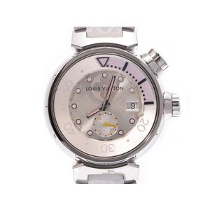 ルイヴィトン タンブール ダイビング シルバー系文字盤 Q131M レディース SS/ラバー クオーツ 腕時計 ABランク LOUIS VUITTON ギャラ 中古 銀蔵