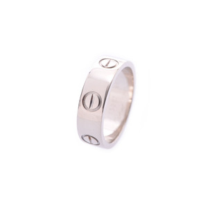 Cartier Love Ring # 49 Ladies WG 6.1g A rank good item CARTIER used Ginzo