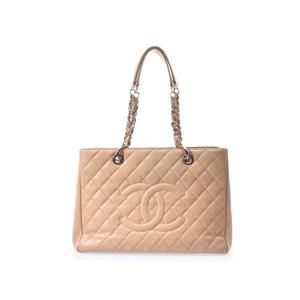 シャネル(Chanel) シャネル マトラッセ GSTトート ベージュ SV金具 レディース キャビアスキン トートバッグ Bランク CHANEL 中古 銀蔵
