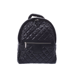 CHANEL Cocoko Koon Backpack Black Men's Women's Nylon Leather Rucksack A Rank Beauty Product Box Gallery Used Ginzo