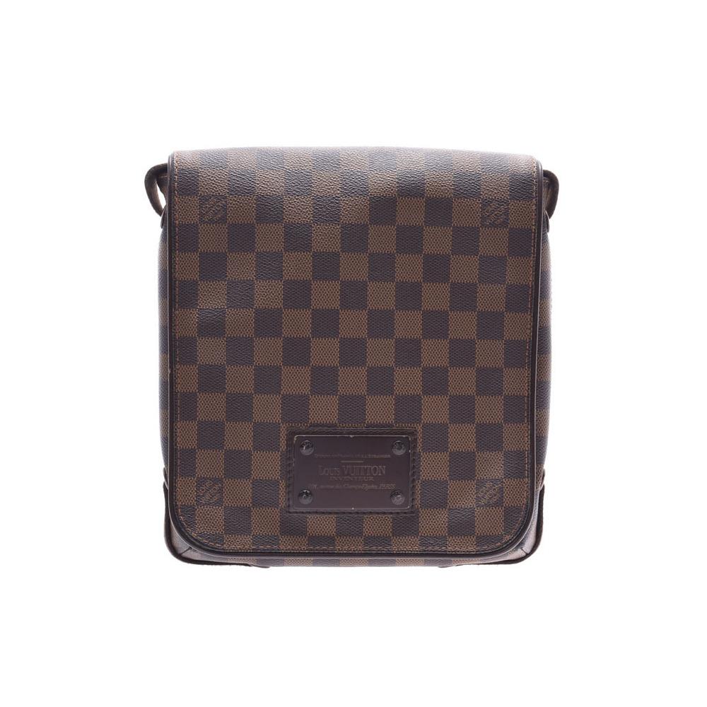 ルイ・ヴィトン (Louis Vuitton) ルイヴィトン ダミエ ブルックリンPM ブラウン N51210 メンズ レディース 本革 ショルダーバッグ Bランク LOUIS VUITTON 中古 銀蔵