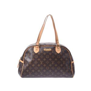ルイ・ヴィトン (Louis Vuitton) ルイヴィトン モノグラム モントルグイユGM ブラウン M95566 メンズ レディース 本革 ハンドバッグ Bランク LOUIS VUITTON 中古 銀蔵