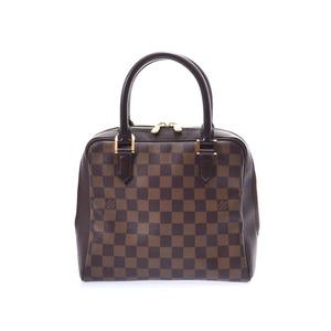 Louis Vuitton Damier Brera Brown N51 150 Ladies Genuine Leather Handbag AB Rank LOUIS VUITTON Used Ginzo