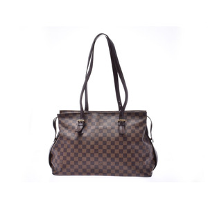 Louis Vuitton Damier Chelsea Brown N51119 Women's Genuine Leather Shoulder Bag B rank LOUIS VUITTON Used Ginzo