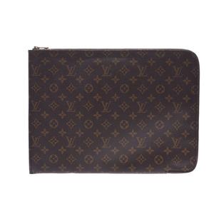 ルイ・ヴィトン (Louis Vuitton) ルイヴィトン モノグラム ポッシュ ドキュマン ブラウン M53456 メンズ 本革 書類ケース クラッチバッグ ABランク LOUIS VUITTON 中古 銀蔵