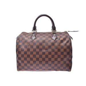 ルイ・ヴィトン (Louis Vuitton) ルイヴィトン ダミエ スピーディ30 ブラウン N41531 メンズ レディース 本革 ハンドバッグ Aランク 美品 LOUIS VUITTON 中古 銀蔵
