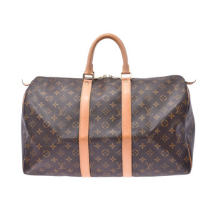 ルイ・ヴィトン (Louis Vuitton) ルイヴィトン モノグラム キーポル45 ブラウン M41428 レディース メンズ 本革 ボストンバッグ ABランク LOUIS VUITTON 中古 銀蔵