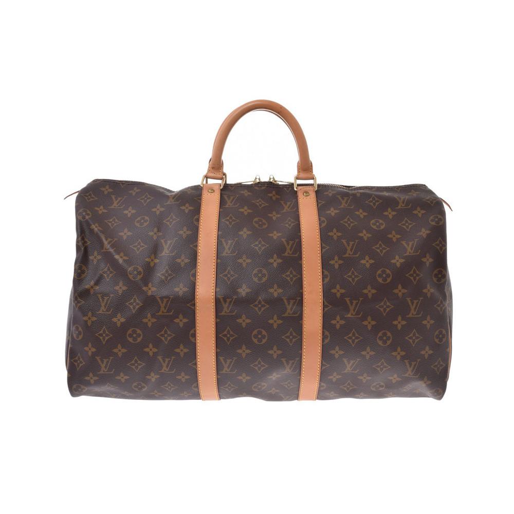 ルイ・ヴィトン (Louis Vuitton) ルイヴィトン モノグラム キーポル50 ブラウン M41426 メンズ レディース 本革 ボストンバッグ ABランク LOUIS VUITTON 中古 銀蔵