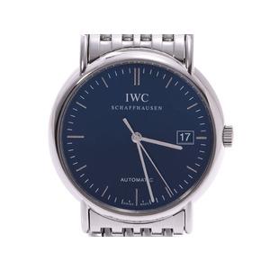 IWC ポートフィノ 黒文字盤 IW353306 メンズ SS 自動巻 腕時計 Aランク 中古 銀蔵