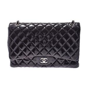 シャネル(Chanel) シャネル マトラッセ チェーンショルダーバッグ シングル 黒 SV金具 レディース エナメル ABランク CHANEL ギャラ 中古 銀蔵