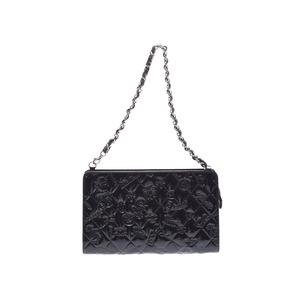 シャネル(Chanel) シャネル アイコンシリーズ ミニチェーンショルダーバッグ 黒 SV金具 レディース エナメル Aランク 美品 CHANEL 中古 銀蔵