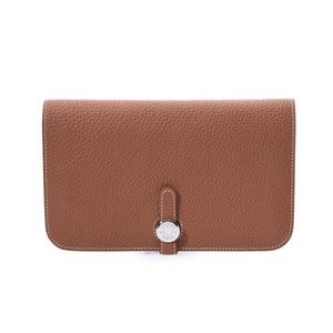 Hermes Dogon GM Gold SV hardware T stamp Women's Togo Long wallet A rank Beauty goods HERMES box Used Ginzo