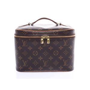 Louis Vuitton Monogram Nice BB Brown M42265 Women's Genuine Leather Vanity Bag AB Rank LOUIS VUITTON Used Ginzo