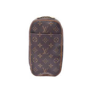 ルイ・ヴィトン (Louis Vuitton) ルイヴィトン モノグラム ポシェット ガンジュ ブラウン M51870 メンズ レディース 本革 ボディバッグ ABランク LOUIS VUITTON 中古 銀蔵