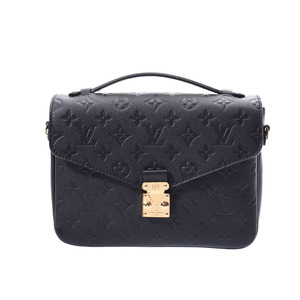 Louis Vuitton Anplant Pochette Metiz Black M41487 Women's Genuine Leather 2WAY Bag A Rank Beauty Product LOUIS VUITTON With Strap Used Ginzo