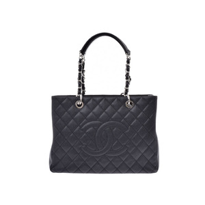 Chanel Matrasse GST Chain Tote Bag Black SV hardware Women's caviar skin New item beauty product CHANEL Used Ginzo