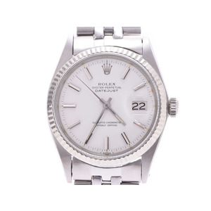 Rolex Datejust White Dial 1601 Men's WG / SS Automatic Watch AB Rank ROLEX Used Ginzo