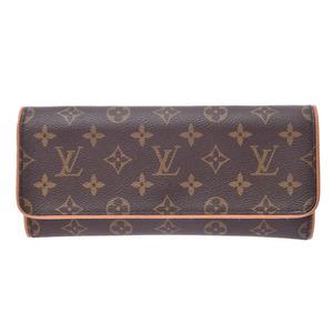 ルイ・ヴィトン (Louis Vuitton) ルイヴィトン モノグラム ポシェット ツインGM ブラウン M51852 レディース 本革 バッグ ABランク LOUIS VUITTON 中古 銀蔵