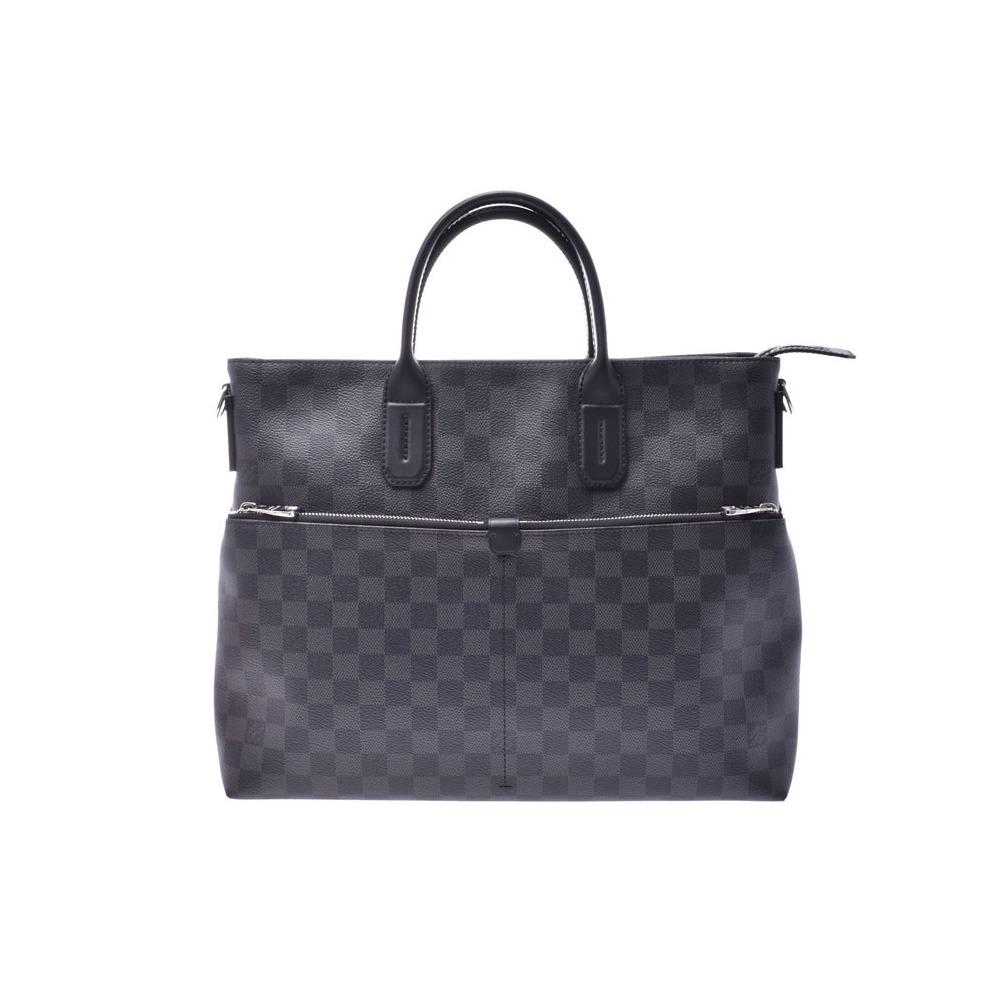 ルイ・ヴィトン (Louis Vuitton) ルイヴィトン グラフィット 7DW 黒 N41564 メンズ 本革 2WAYビジネスバッグ Aランク LOUIS VUITTON ストラップ付 中古 銀蔵