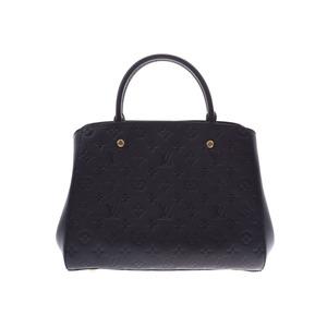 ルイ・ヴィトン (Louis Vuitton) ルイヴィトン アンプラント モンテーニュMM 黒 M41048 レディース 2WAYハンドバッグ 新品 LOUIS VUITTON ストラップ付 銀蔵