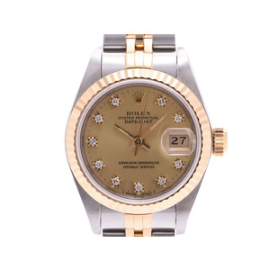 Rolex Datejust Champagne Dial 10P Diamond 69173G Number L Ladies SS / YG Automatic Watch Wristwatch Dead Stock A Rank Beauty Product ROLEX Box Used Ginzo