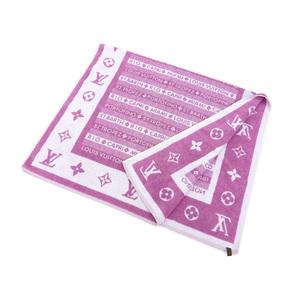 LOUISVUITTON Louis Vuitton Monogram Large format towel Beach Bath blanket Pink 20180316