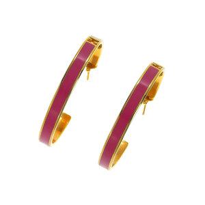 FENDI Fendi by color Ladies hoop earrings white pink 20190429